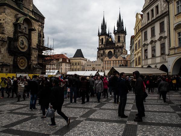 Rathausplatz in Prag