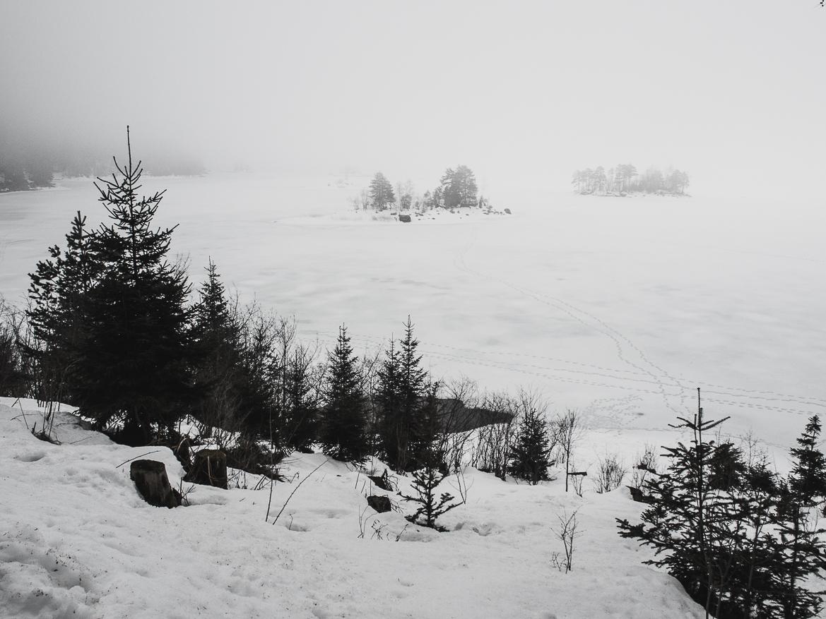 Nebelschaden über dem Eibsee